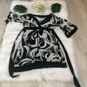 My Michelle size med black and white dress